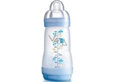 Mam Anti-Colic antikoliková láhev na krmení a silikonová jemná savička 1 pomalý různé barvy 2+ měsíců 260 ml