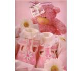 Nekupto Gift paper bag 32.5 x 26 x 13 cm Pink teddy bear 1 piece 1093 30 KFL