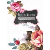 Ditipo Relax for handbag Rose notebook 15 x 10.5 cm