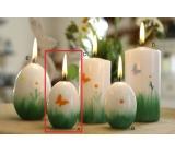 Lima Jarní relief motýlek svíčka bílá vajíčko 40 x 60 mm 1 kus