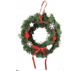 Wreath with red-white decoration for hanging 25 cm