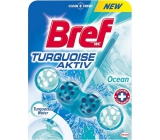 Bref Turquoise Aktiv Ocean WC block for hygienic cleanliness and freshness of your toilet, colors the water in a turquoise shade of 50 g
