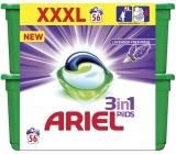 Ariel 3v1 Lavender Freshness gelové kapsle na praní prádla 56 kusů 756 g