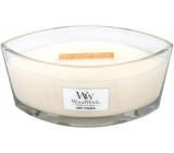 WoodWick Baby Powder - baby powder scented candle with wooden wide wick and glass lid ship 453 g