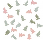 Wooden pink and blue trees 2 cm 24 pieces