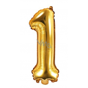 Inflatable balloon number 1, 35 cm foil