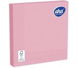 Aha Paper napkins monochromatic 3 ply 33 x 33 cm 20 pieces pink