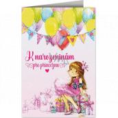 Nekupto Birthday card Princess 115 x 170 mm 3605 F