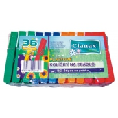 Clanax Plastic clothes pegs color 36 pieces