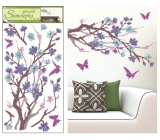 Room Decor Wall Stickers purple-purple twig 69 x 32 cm 1 piece
