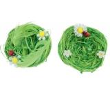 Hnízda z lýka zelená 7 cm 2 kusy