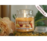 Lima Aroma Dreams Apricot aromatic candle glass with lid 120 g