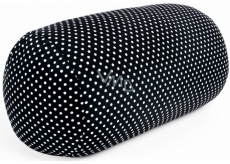 Albi Black relaxation pillow with polka dots 33 x 16 cm