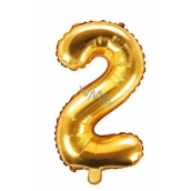 Inflatable balloon number 2, 35 cm foil