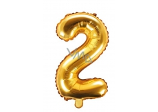 Air balloon inflatable number 2, 35 cm foil