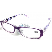 Glasses diop.plast. + 2 purple pages with rectangles MC2084
