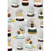 Ditipo Gift wrapping paper 70 x 200 cm Christmas silver paperweights