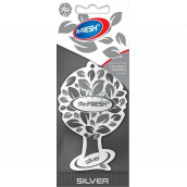 Mister Fresh Car Parfume Silver hanging air freshener 1 piece