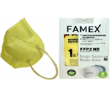 Famex Respirator oral protective 5-layer FFP2 face mask yellow 10 pieces