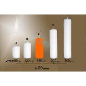 Lima Candle smooth orange cylinder 60 x 150 mm 1 piece