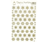Arch Holographic decorative stickers Christmas snowflakes gold 1 arch