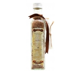 Bohemia Gifts Cinnamon and Acacia with aphrodisiac scent herbal bath salt filter bag 260 g glass cover