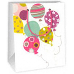 Ditipo Gift paper bag 11.4 x 6.4 x 14.6 cm white balloons