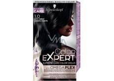 Schwarzkopf Color Expert barva na vlasy 1.0 Sytý černý