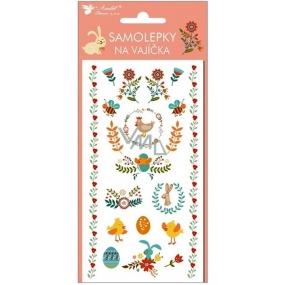 Samolepky na vajíčka velikonoční nové gelové č.2 19 x 9 cm