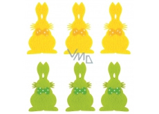 Bunny with 6 cm adhesive, 6 pcs in bag