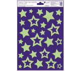 Room Decor Window foil without glue plastic glowing in the dark stars 20 x 30 cm 1 piece