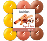 Bolsius Aromatic Sugar & Spice - Sugar and spices scented tealights 18 pieces, burning time 4 hours