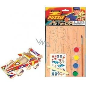 Puzzle wooden means of transport Formula 20 x 15 cm
