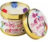 Bomb Cosmetics Three Little Birds Scented natural, handmade candle in a tin can burns for up to 35 hours