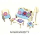 Mini Dream Home Wooden puzzle furniture dreams 01 sofa 20 x 15 cm