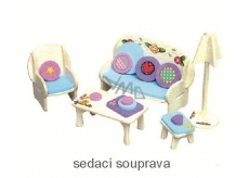 Mini Dream Home Wooden puzzle furniture 01 sofa set 20 x 15 cm