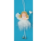 Soft Angel with hanging bell 12 cm, No.1