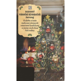 Albi Family Christmas tree with color print