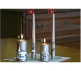Lima Relief winter candle metal light brown cone 22 x 250 mm 1 piece