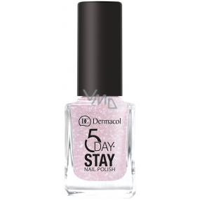 Dermacol 5 Day Stay Long-lasting nail polish 04 Nude Glam 11 ml
