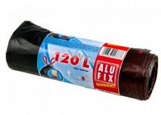 Alufix Economy Retractable waste bags black, 21 µ 120 liters, 70 x 100 cm, 7 pieces