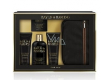 Baylis & Harding Black pepper and Ginseng 2in1 shampoo and shower gel 300 ml + toilet soap 150 g + aftershave balm 130 ml + shower gel 130 ml + toiletry bag, cosmetic set for men