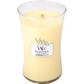 WoodWick Candle Glass Large Lemongrass + Lily 0659