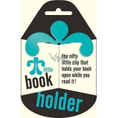 If Little Book Holder Turquoise book holder 75 x 2.5 x 75 mm