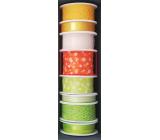 Nekupto Fabric ribbon orange white polka dots 2 mx 40 mm