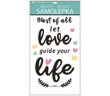 Room Decor Wall stickers with the text Love, life 60 x 32 cm