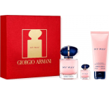 Giorgio Armani My Way perfumed water for women 50 ml + perfumed water 7 ml + body lotion 75 ml, gift set
