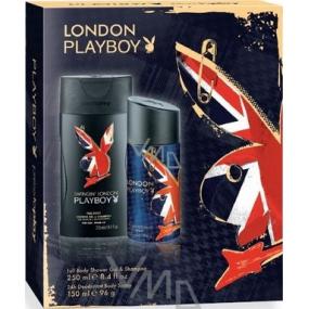 Playboy London deodorant sprej 150 ml + sprchový gel 250 ml, kosmetická sada