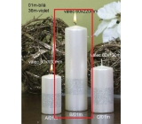 Lima Ribbon candle white cylinder 60 x 220 mm 1 piece