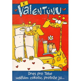 Ditipo Playing card For Valentine's Day Today I will do anything for you melody 224 x 157 mm